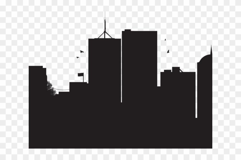 Futuristic Clipart City Silhouette.