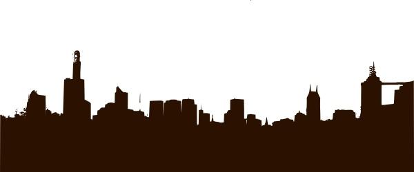 Rgesthuizen City Skyline clip art Free vector in Open office.