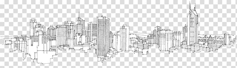 City landscape illustration, City of Melbourne New York City.