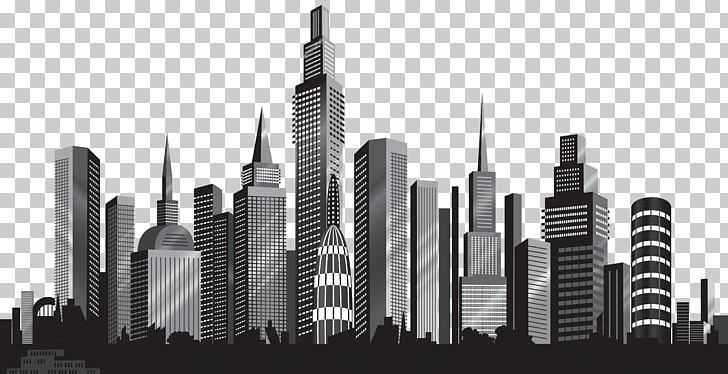 Cityscape Skyline PNG, Clipart, Art City, Black And White.