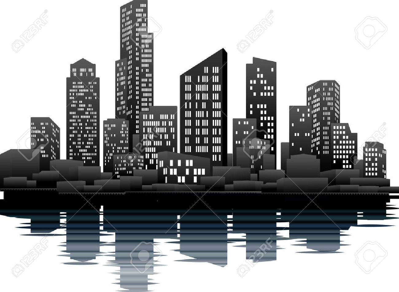 New York City Skyline Clip Art, Skyline Free Clipart.