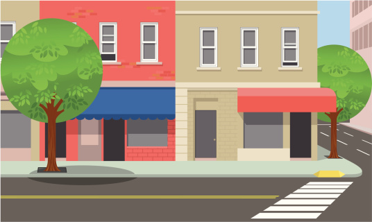 City Street Clip Art, Vector Images & Illustrations.
