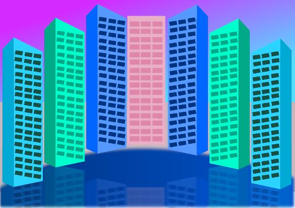 City Buildings Clip Art Download.