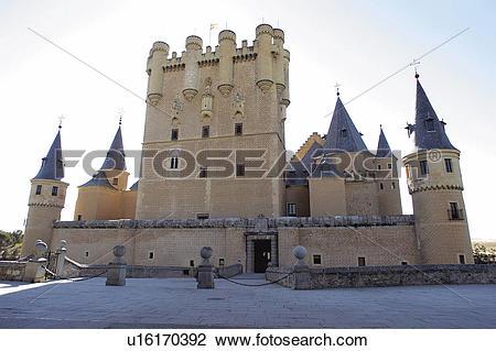 Stock Photo of Spain, Castilla leon, Segovia, City, Tower, Towers.