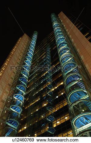 Stock Photograph of dubai, city, tower, night, evening, dark.