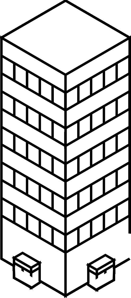 clipartist.net » Clip Art » iso city tower 1 black white pinterest.