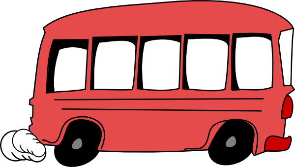 City Bus Side View Clipart.