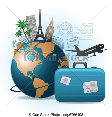 traveling around the world clipart.