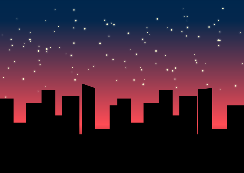 City view clipart.