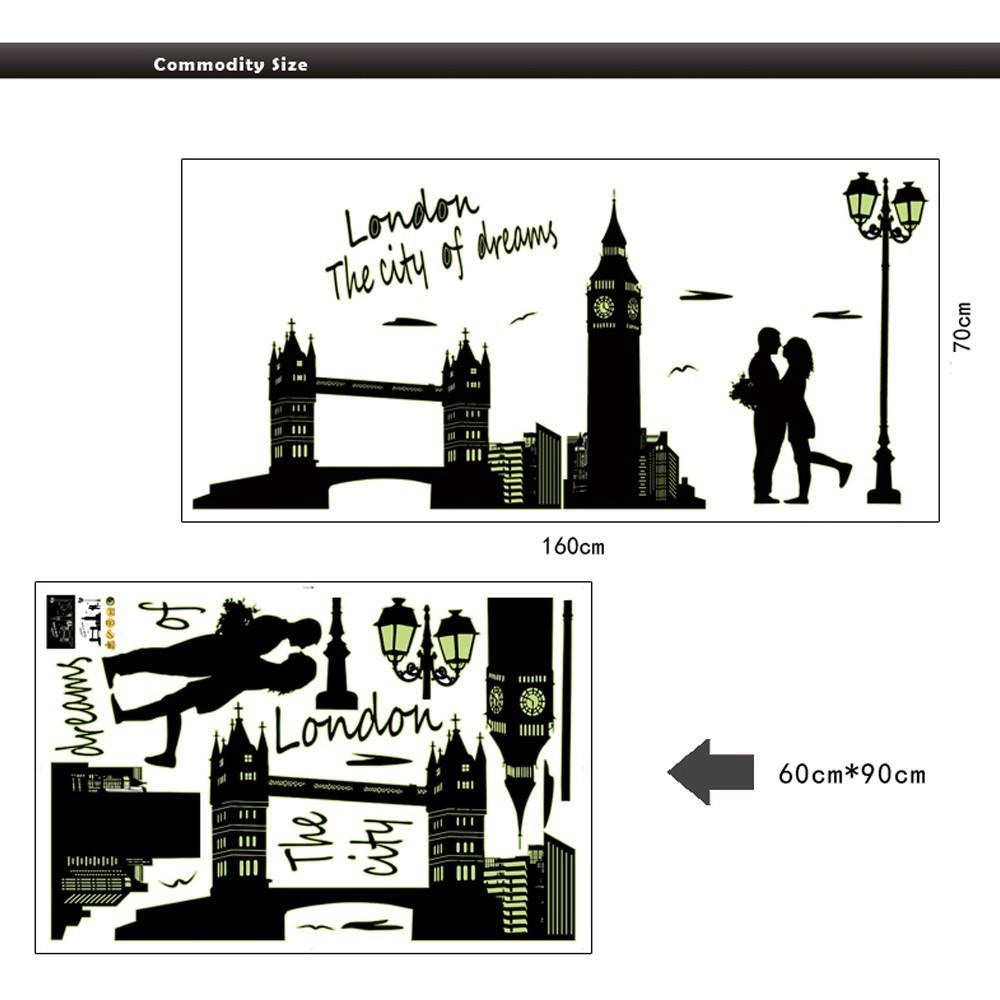 London The City Of Dreams Wall Sticker Home Decoration Creative.