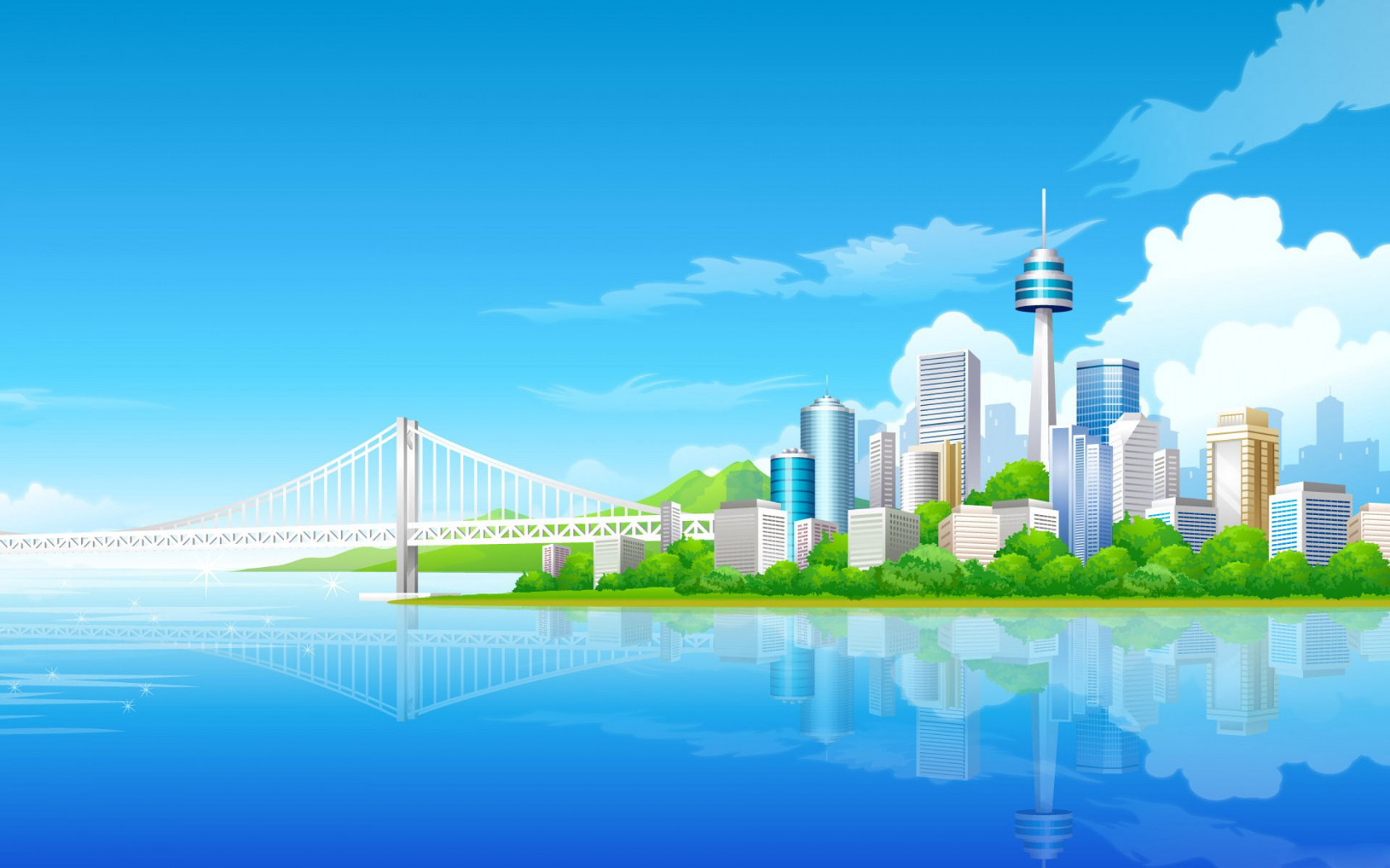 Animated Green Buildings : City wallpaper clipart clipground