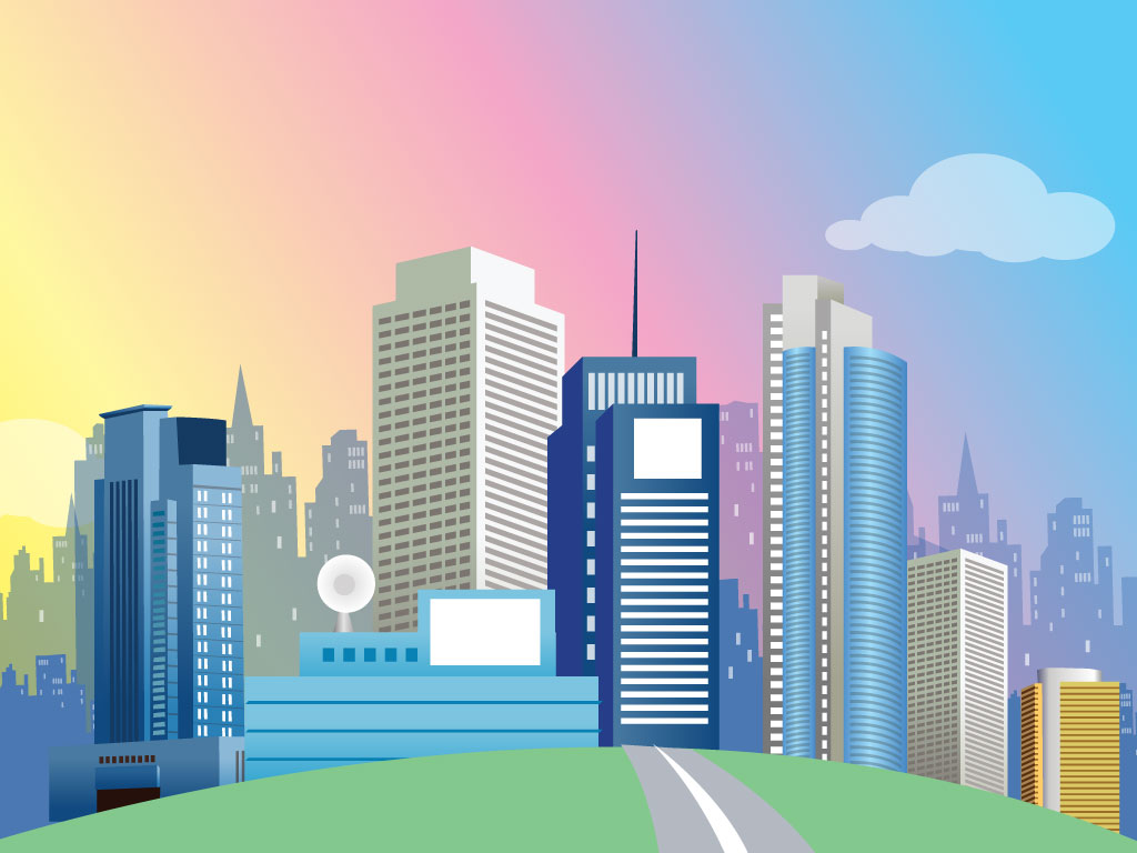 City clipart background.