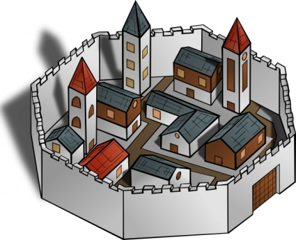 City clipart for walls.