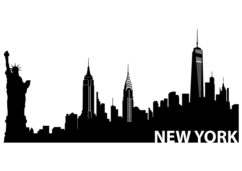 New york skyline clipart for walls.