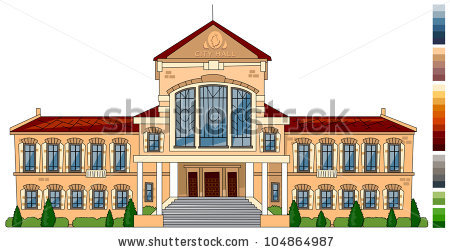 Municipal hall clipart.