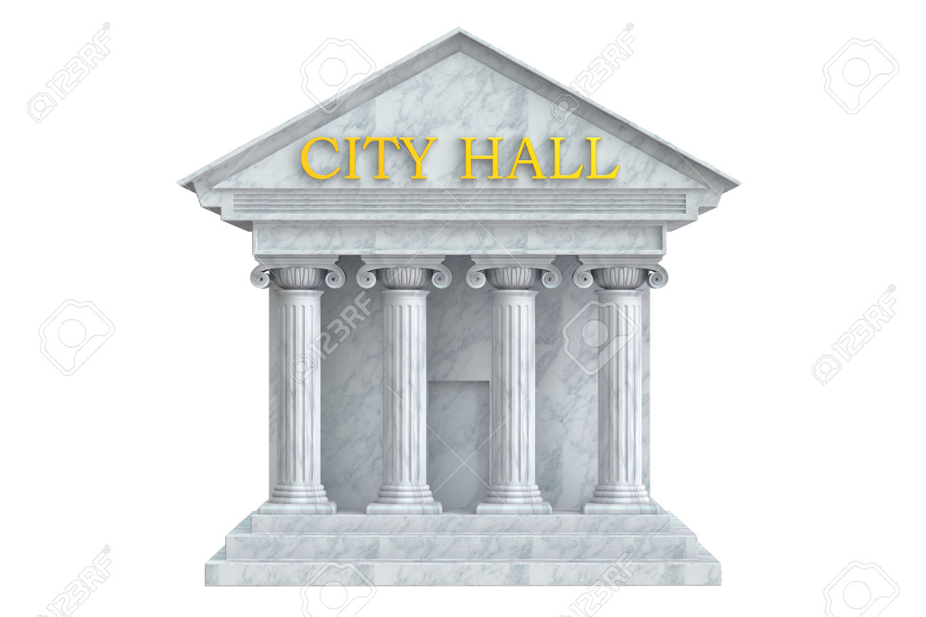 City hall outline clipart.