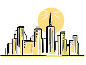 City line clipart.