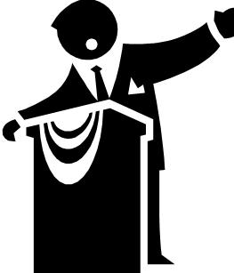 Mayor clipart black and white.