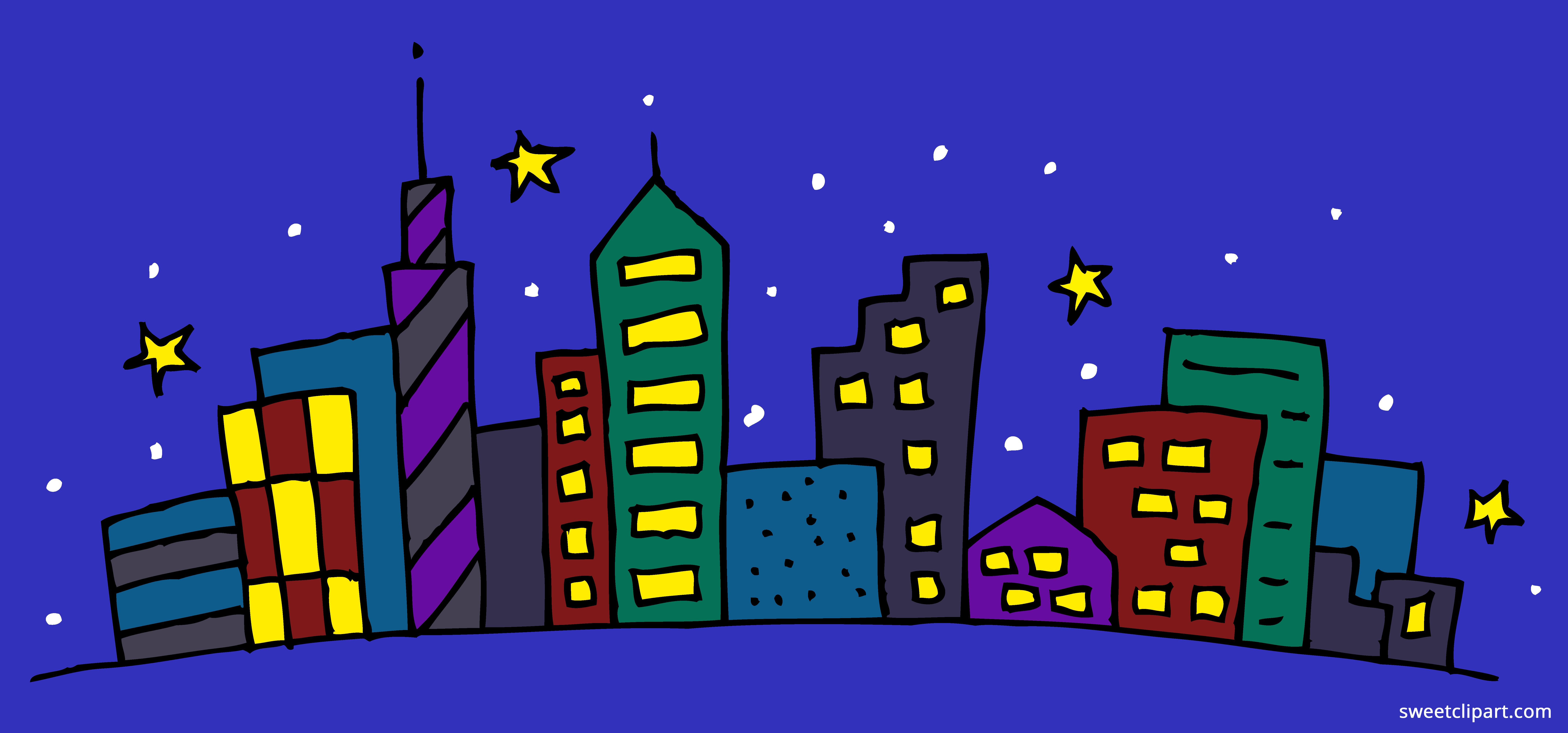 Night Cityscape Clipart Clipart.
