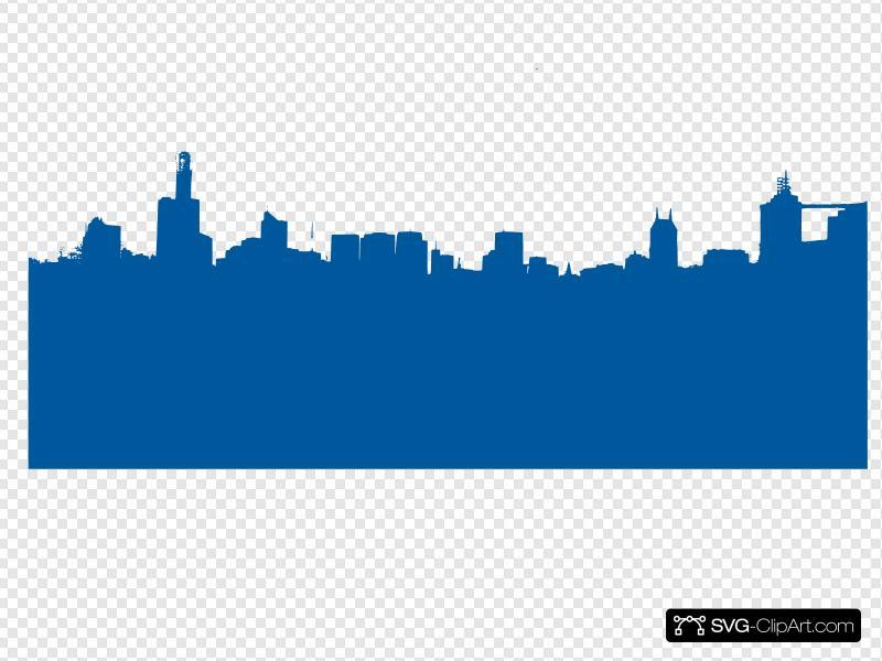 Blue Cityscape Clip art, Icon and SVG.
