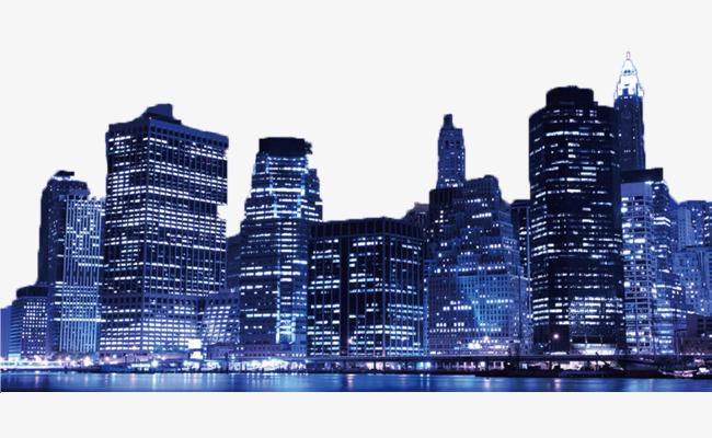 Night City Landscape Background, Night C #56609.