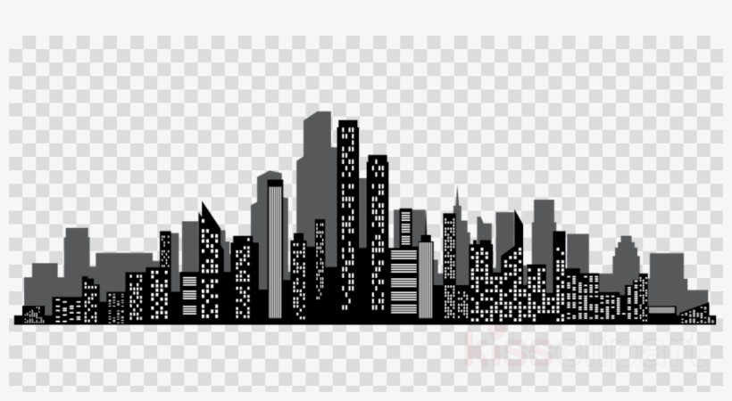 Silhouette Cityscape Clipart Cityscape Skyline Clip.