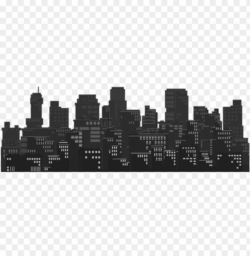 cityscape silhouette png.