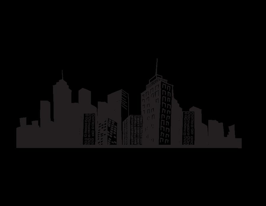 Clip art cityscape.