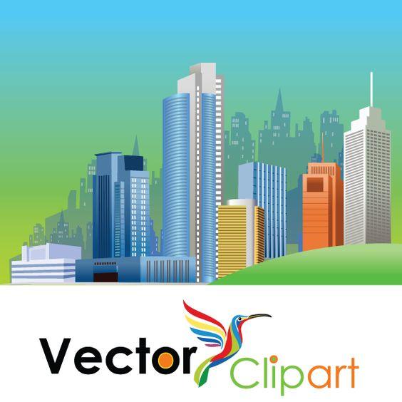 Ciudad espléndida, imagen vectorial..
