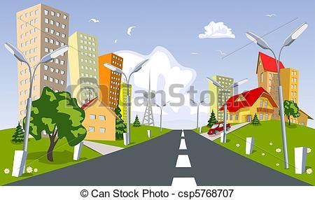 Vectors Illustration of Vector city.
