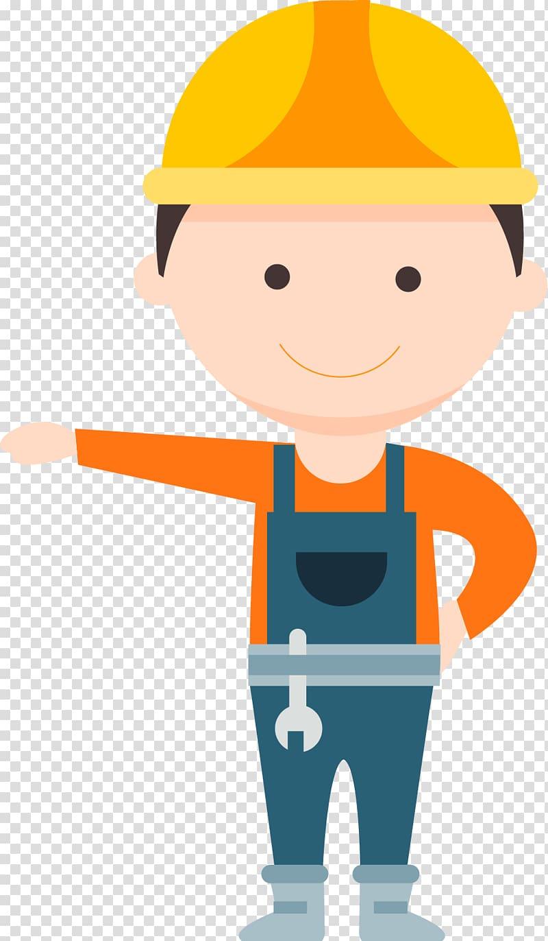 Repair man illustration, Civil Engineering Maintenance engineering.