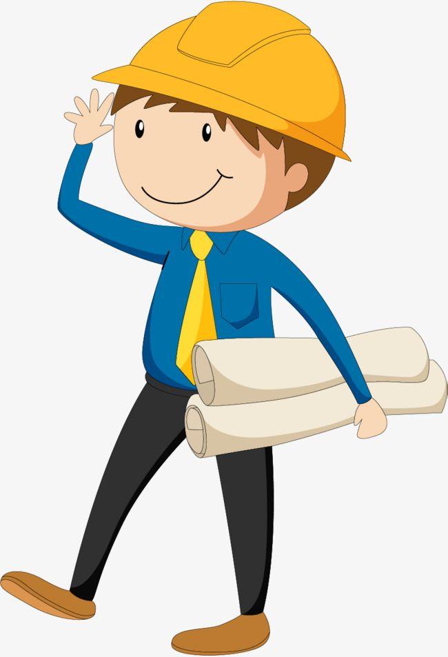Holding The Drawings Of The Engineers, Engineering Designer, Civil.