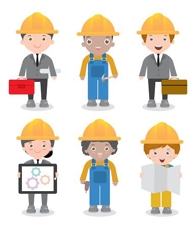 Engineer Man and Woman,civil Engineer, Architect and Construction.