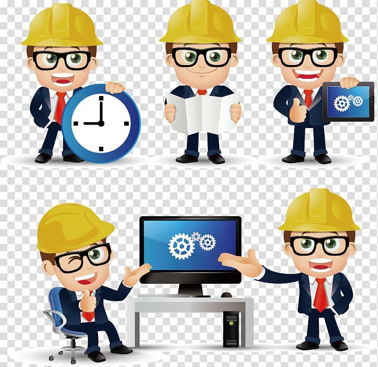 Engineer illustration, Civil Engineering, Construction engineer.