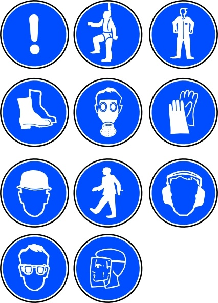 Protection Symbols clip art Free vector in Open office drawing svg.