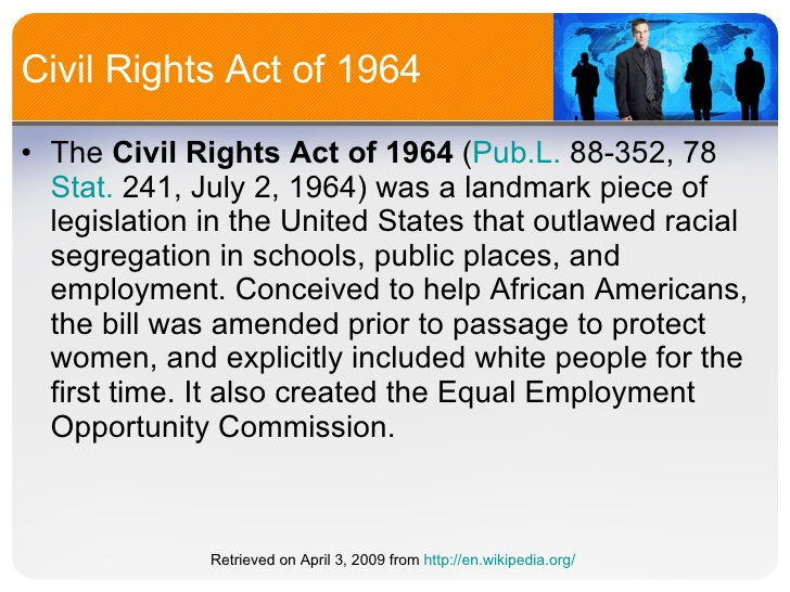 Civil Rights Act 1964 Facts.