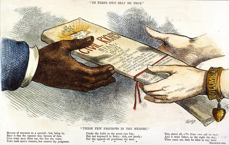 Civil rights act of 1875.