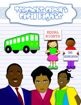 Civil rights movement clipart.