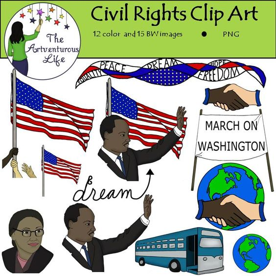 Martin Luther King Jr. and Civil Rights Clip Art.