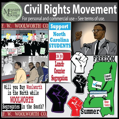 Civil Rights Movement Clip Art.