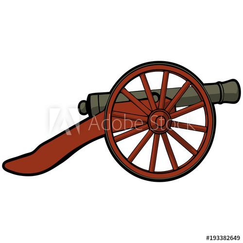 civil war cannon view side.