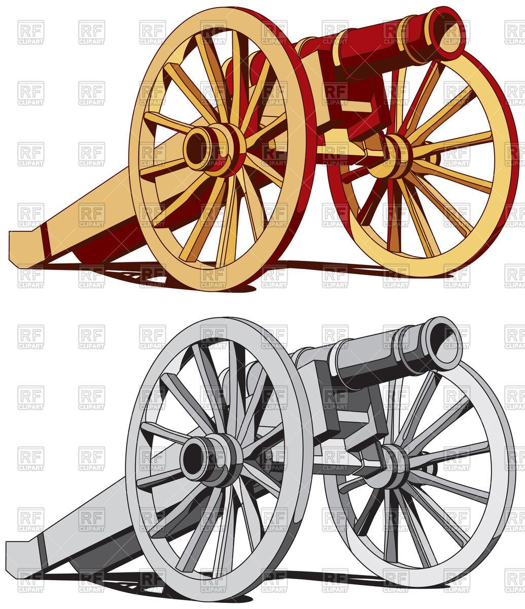 Old field gun of times of American Civil War.