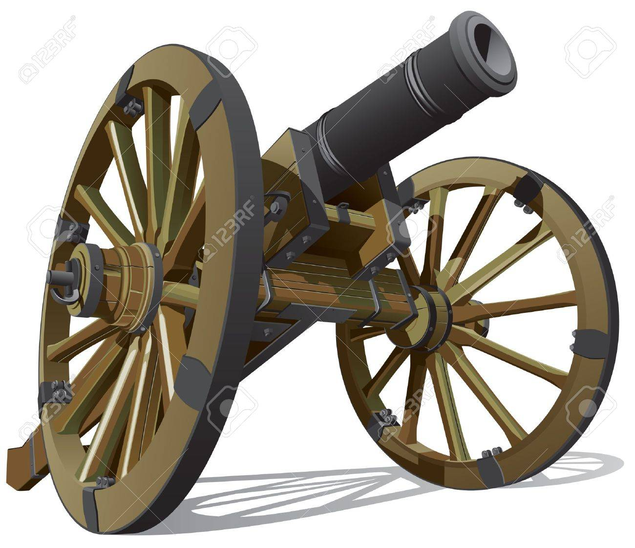 145 Civil War Cannon Stock Vector Illustration And Royalty Free.