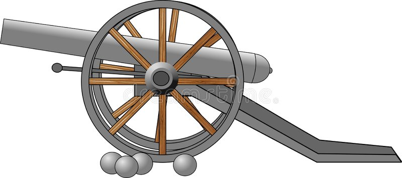 Civil War Cannon Stock Illustrations.