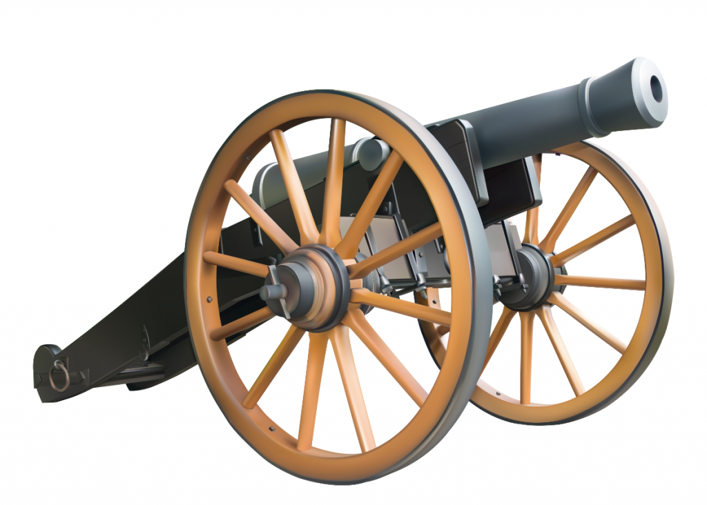 The Shadow Box Pewter Civil War Cannon Fiukot Clipart.