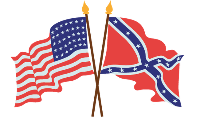 American Civil War Flags.