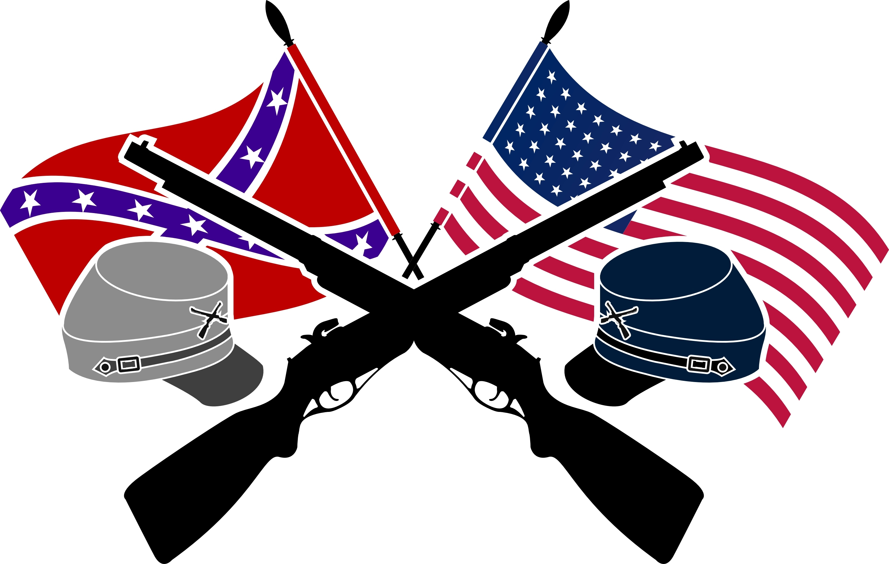Civil War Flag Clipart.