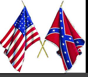 Civil War Flags Clipart.