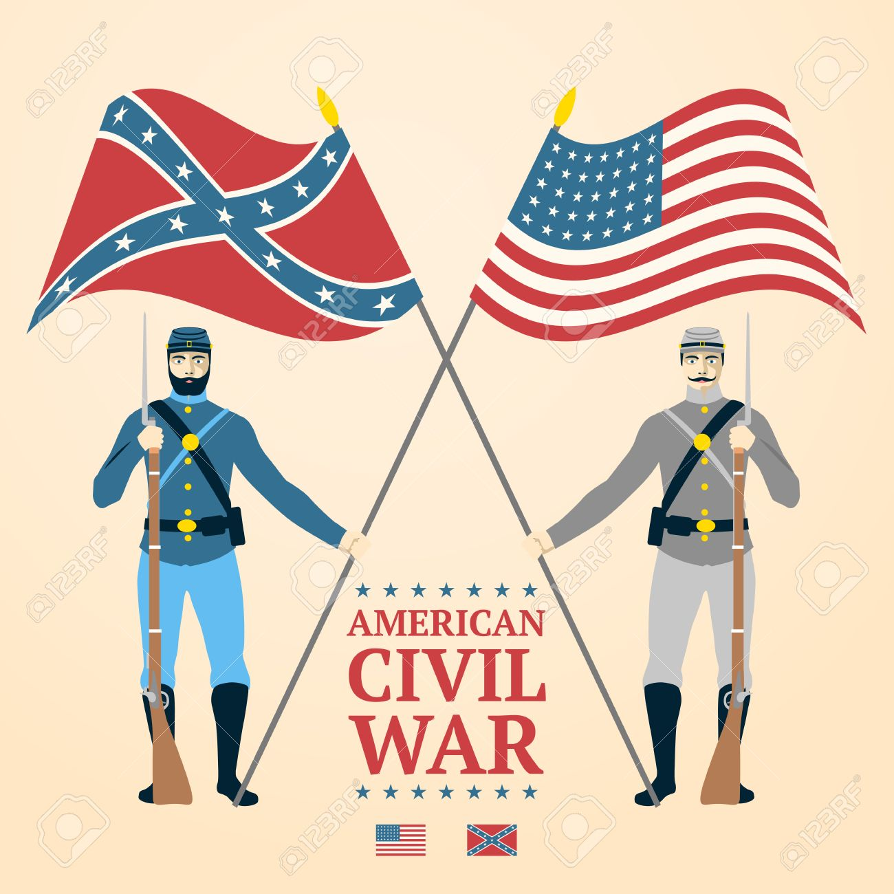 American Civil War illustration.