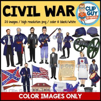 Civil War Clip Art Bundle.
